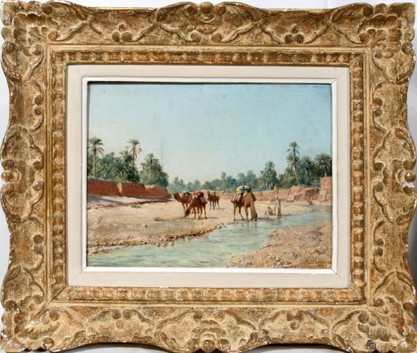 082009: PAUL JEAN BAPTISTE LAZERGES OIL/PANEL, 1899