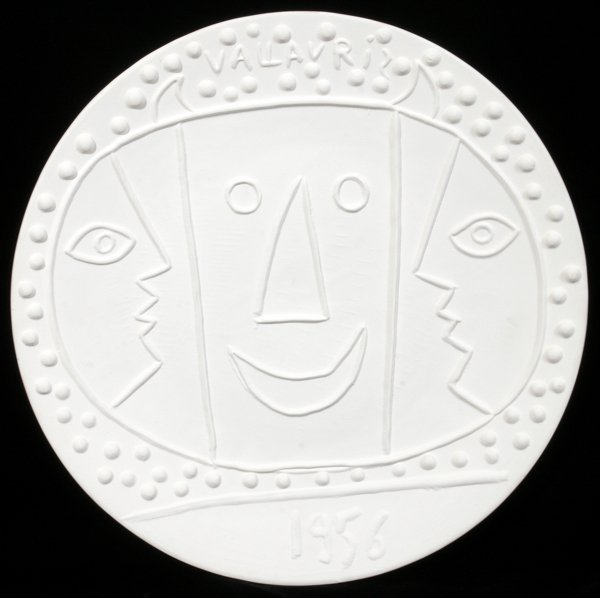"""082015: PABLO PICASSO, """"VALLAURIS"""", EARTHENWARE CHARGER"""