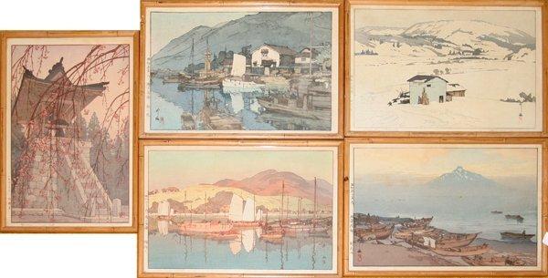 082098: HIROSHI YOSHIDA JAPANESE WOOD BLOCK PRINTS, 5