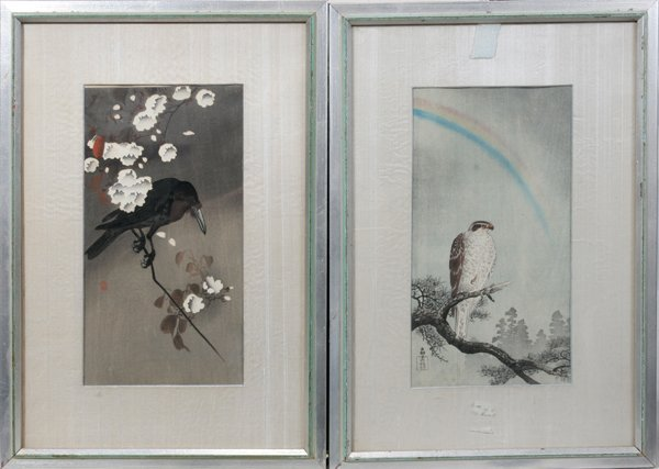 082461: JAPANESE WOODBLOCK PRINTS, ONE BLOCK SIGNED,