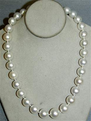 SOUTH SEA PEARL NECKLACE, 14KT WHITE GOLD