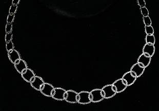 """NECKLACE IN 18 KT WHITE GOLD & DIAMOND, 20"""""""