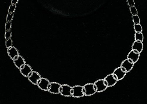 """030002: NECKLACE IN 18 KT WHITE GOLD & DIAMOND, 20"""""""