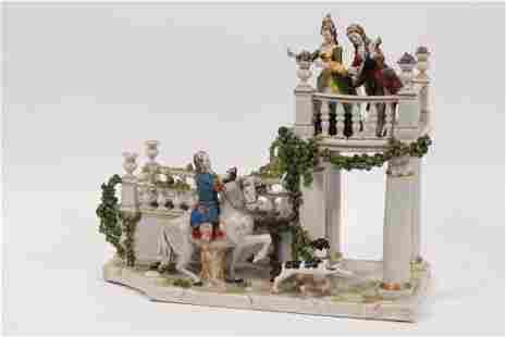 ROYAL VIENNA POCELAIN PLATEAU FIGURE GROUP 19TH.C. H