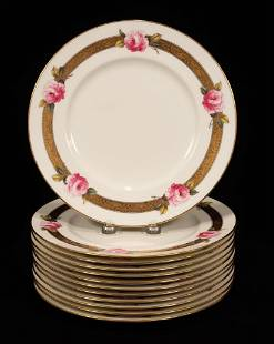 CAULDON (ENGLAND) PORCELAIN DINNER PLATES, 12 PCS, DIA