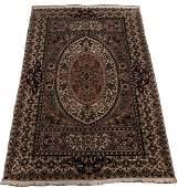 """FINE INDO PERSIAN TABRIZ WOOL RUG, C. 2000, W 4' 7"""", L"""