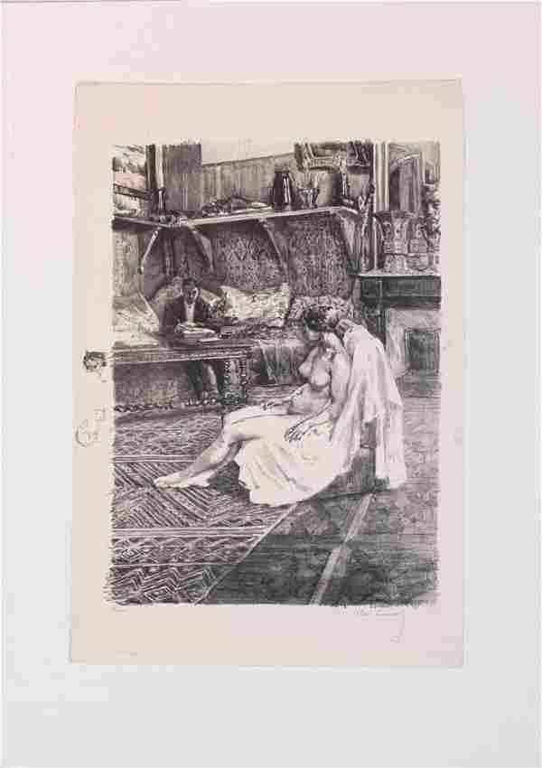 ALEXANDRE LUNOIS (FRENCH, 1863–1916) LITHOGRAPH ON WOVE