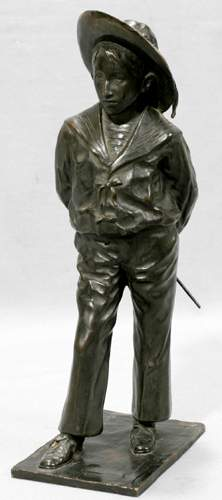 MME MADRASSY FRENCH BRONZE SCULPTURE