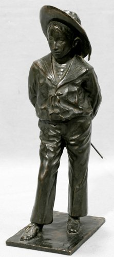 032008: MME MADRASSY FRENCH BRONZE SCULPTURE