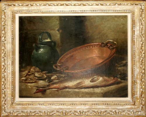 032017: MAURICE LOUIS MONNOT, OIL ON CANVAS, C. 1894