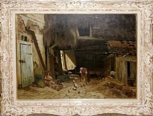 KARL WILHELM MALCHIN, OIL ON CANVAS, 1876