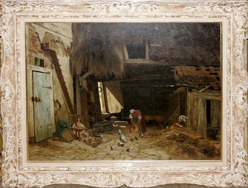 032022: KARL WILHELM MALCHIN, OIL ON CANVAS, 1876