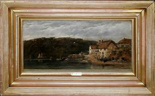 WILLIAM PITT, OIL ON CANVAS, NEAR ST. MAWES, 18