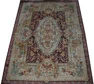 090013: PERSIAN HAND WOVEN WOOL CARPET, MID 20TH C
