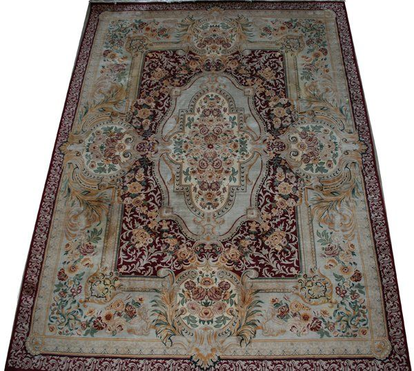 PERSIAN HAND WOVEN WOOL CARPET, MID 20TH C