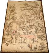 """090462: FRENCH WOOL TAPESTRY, C1920, H 55"""", W 38"""""""