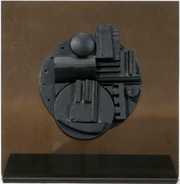 091004: LOUISE NEVELSON, WOOD MULTIPLE ON PLEXIGLAS,