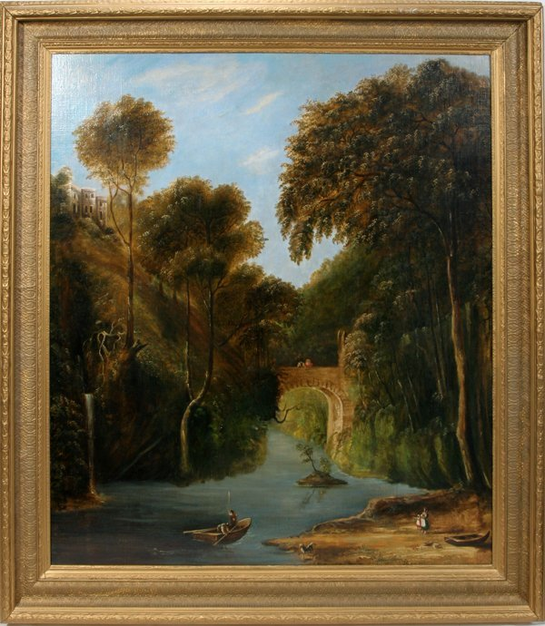 092014: GEORGE VICAT COLE OIL ON CANVAS LAID DOWN, 1857