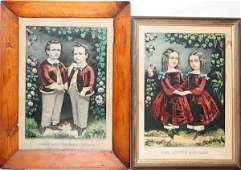 092302 CURRIER  IVES LITHOS LITTLE BROTHERS  SISTERS