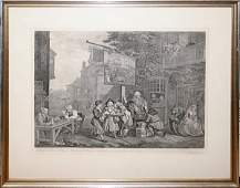 092490: AFTER WILLIAM HOGARTH, ENGRAVING 'CANVASSING