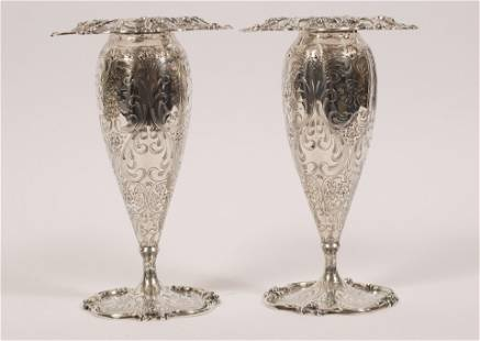 STERLING SILVER VASES, ROGER WILLIAMS CO. 22TO C 1903,