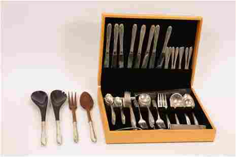 """TOWLE """"MADEIRA"""" STERLING FLATWARE FOR EIGHT 86 PCS."""