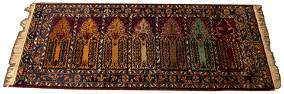 "TURKISH HAND WOVEN PRAYER RUNNER,  W 3'2"" L 7'6"""