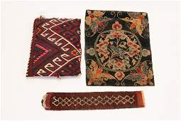 HAND WOVEN ORIENTAL AS PILLOW COVER + 2 OTHERS