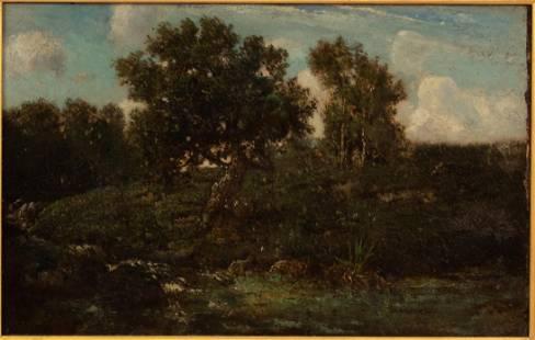 THEODORE ROUSSEAU (FRENCH, 1812-67) BARBIZON SCHOOL,