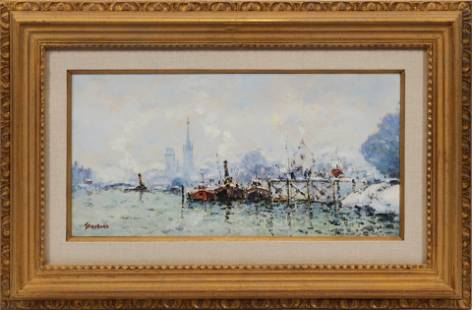 "JEAN PIERRE DUBORD, FRANCE B 1949, OIL ON CANVAS H 10"""
