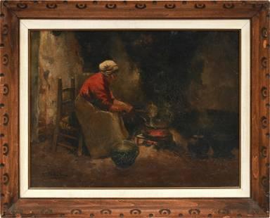 CAROLUS JOHANNES THYSEN (DUTCH 1867–1917) OIL ON CANVAS