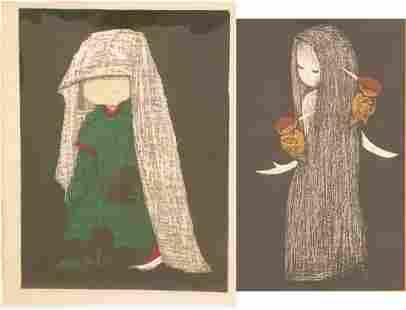KAORU KAWANO (JAPANESE, 1916–1965) WOODCUTS IN COLOR,