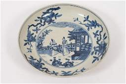 CHINESE EXPORT BLUE AND WHITE PORCELAIN CHARGER, H