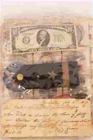 $10.DOLLAR 1934 HAMILTON PORTRAIT PAPER NOTE,