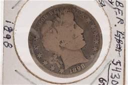 U.S. .50C HALF DOLLAR BARBER LIBERTY, CAPPED- HEAD/