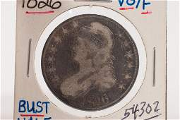 U.S. 1826 STERLING SILVER LIBERTY CAPPED BUST / AND