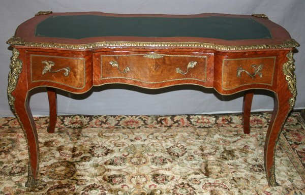 "101016: FRENCH LOUIS XV STYLE DESK, H 31"", L 56"", D 28"""