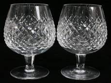 101203 WATERFORD ALANA CRYSTAL BRANDY GLASSES 12