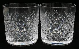 101205 WATERFORD ALANA CRYSTAL OLD FASHIONED GLASSES