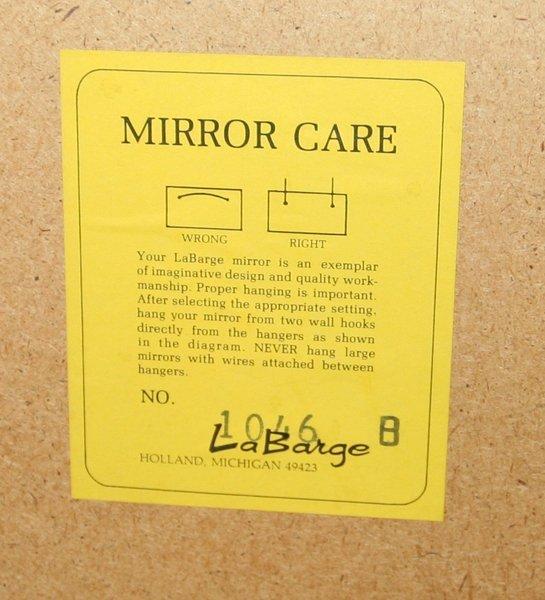 101358: LA BARGE MIRROR, VINTAGE HOLLYWOOD STYLE - 4