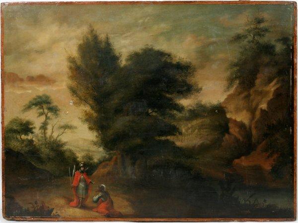 102014: PETER CHRISTIAN THAMSEN SKOVGAARD, OIL ON WOOD