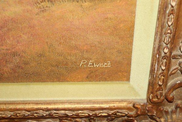 """102231: P. EWERT OIL/CANVAS C 1970 24"""" X 36"""" LANDSCAPE - 2"""