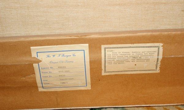 """102231: P. EWERT OIL/CANVAS C 1970 24"""" X 36"""" LANDSCAPE - 4"""