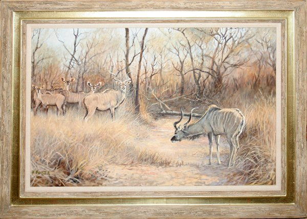 """110049: JIM FOOTE OIL ON CANVAS, 24"""" X 36"""", KUDU"""