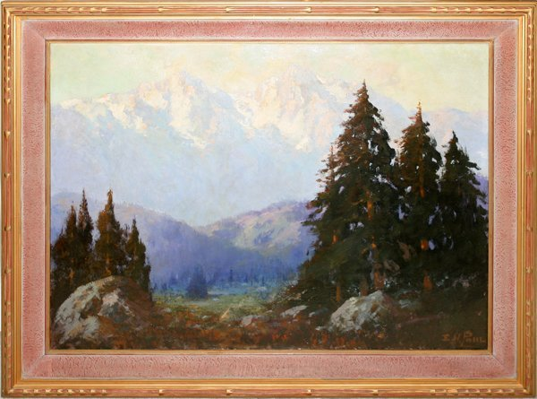 """112002: E. HENRY POHL, OIL ON CANVAS, 30"""" X 40"""","""