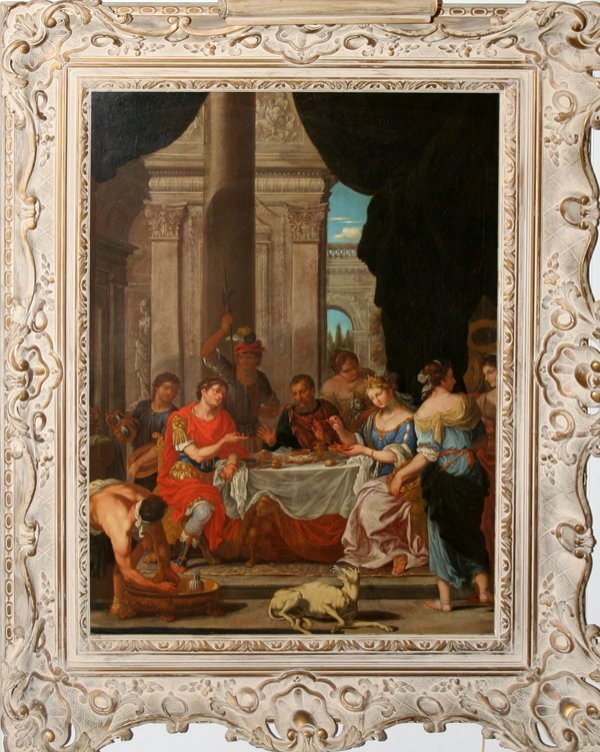 """112007: NEOCLASSICAL OIL ON CANVAS, C. 1800, 40"""" X 30"""""""