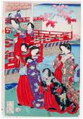 112469 UNSIGNED JAPANESE UKIYOE COLOR WOODBLOCK PRINT