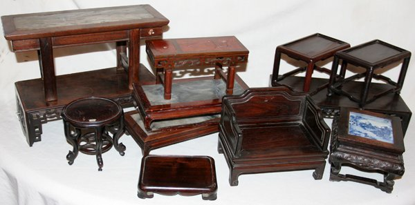112516: CHINESE 19TH.C.MINIATURE FURNITURE PIECES, 12