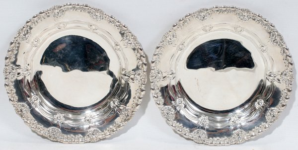 111023: TIFFANY & CO. STERLING PLATES, C. 1892-1902,