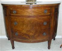 111094 BAKER MAHOGANY THREEDRAWER COMMODE H 32